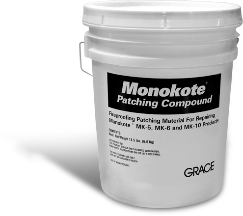 Monokote spray fireproofing products.